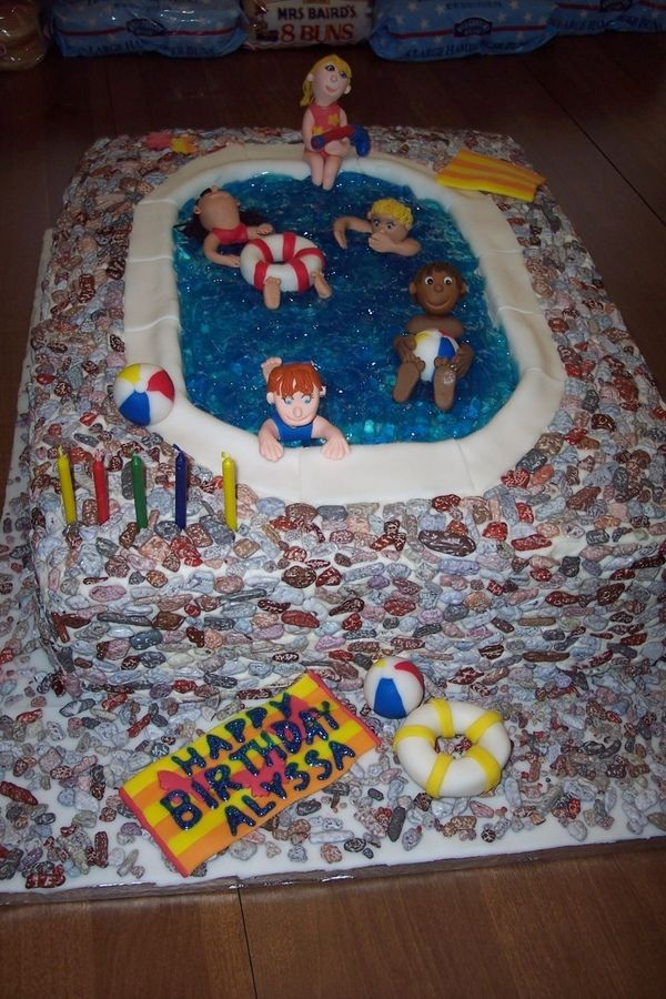 Swimming pool cake ~ cakecentral