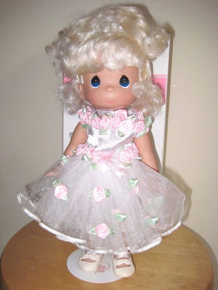 """PRECIOUS MOMENTS BY THE DOLL MAKER 14"""" DOLL W/BOX & STAND #PreciousMoments #DollswithClothingAccessories"""