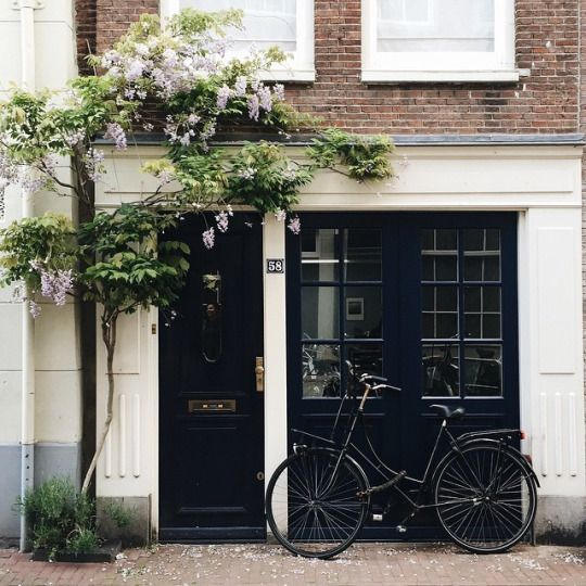 306 best storefront exterior inspiration images on for Black french doors exterior