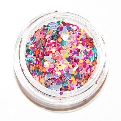 Summer Heat Mix Solvent Resistant Glitter Mix 5 GRAM JAR.