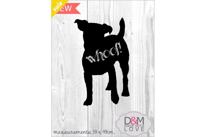 Dog chalkboard wall mounted by D&M made with love Pty Ltd