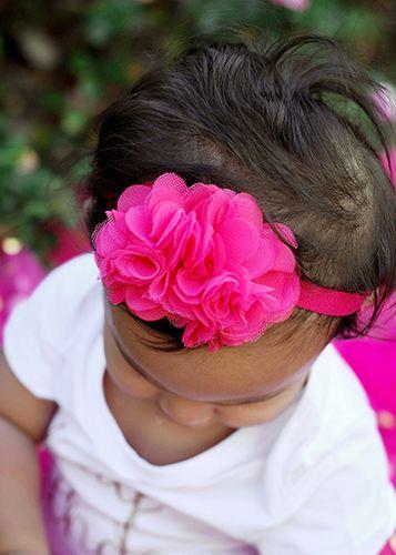 Chiffon and Tulle Flower Headband                                                                                                                                                                                 Más
