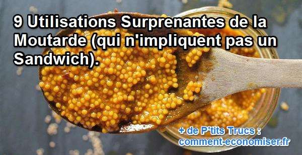 9 Utilisations Surprenantes de la Moutarde (qui n'impliquent pas un Sandwich).