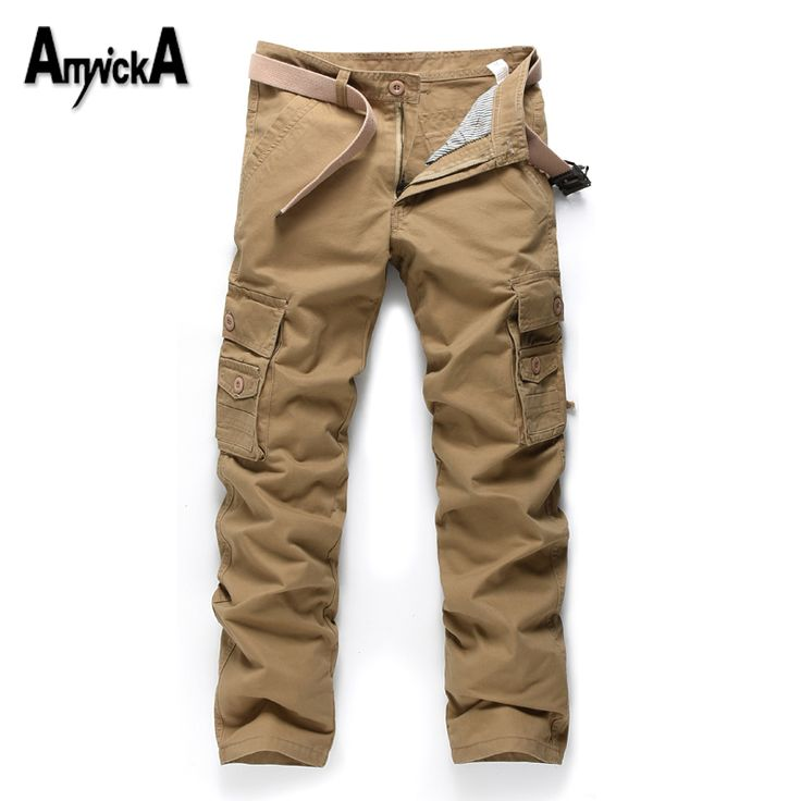 AmynickA Military Style Men Pants Militar Tactical Cargo Pants Outdoor Pants Army Training Sport Pants Men Hiking Hunting A31