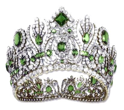 """The """"Emerald and Diamond Parure"""" of Napolean's empress, Marie-Louise."""