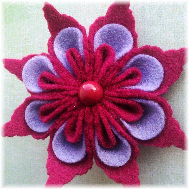 Gorgeous vibrant pink felt flower