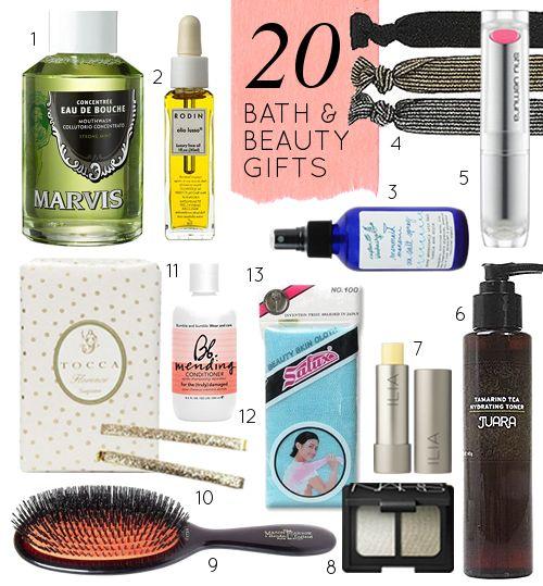 20 Great Bath & Beauty Gift Ideas- AKA, the 20 things I own and SWEAR BUY #gift #bath #beauty #makeup #christmas #stockingstuffers #hair #face #skin