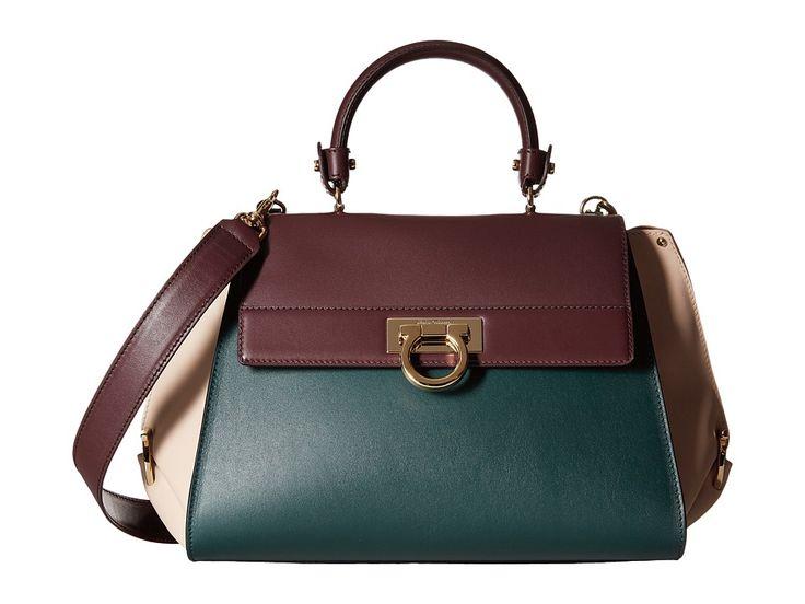 Image of Salvatore Ferragamo - 21E530 Sofia (Feuille 1) Satchel Handbags