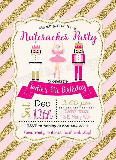 Nutcracker Invitation Nutcracker Birthday por SweetBeeDesignShoppe