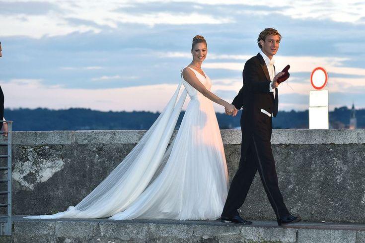Beatrice Borromeo married Pierre Casiraghi in Armani Privé, 2015.