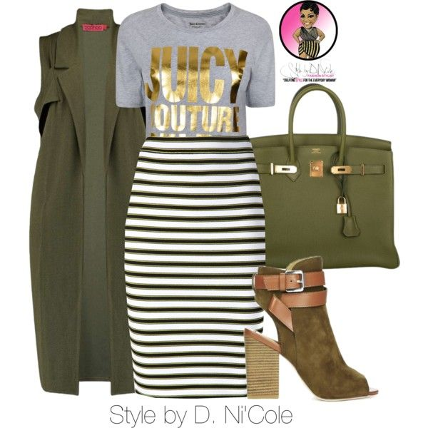A fashion look from August 2015 featuring Juicy Couture t-shirts, A.L.C. skirts and Hermès handbags. Browse and shop related looks.