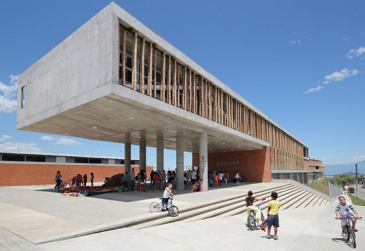 Educational Institute La Samaria by Campuzano Arquitectos | school | concrete structure | bamboo | screen | Colombia