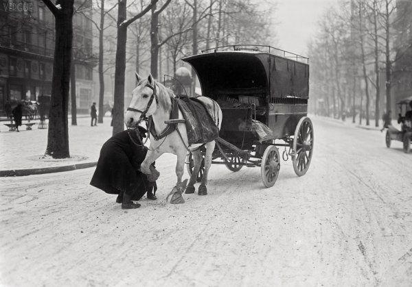 Scène d'hiver à Paris, 1920