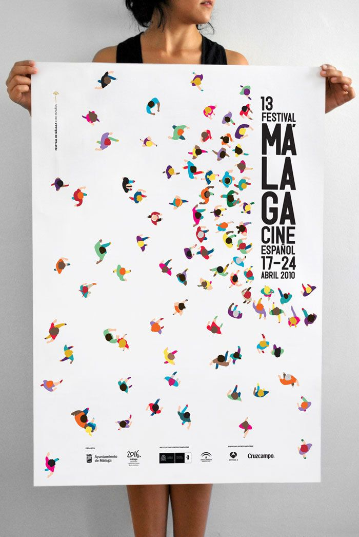 I am obsessed with this poster. I didn't know exactly what was going on a first because i was so distracted by all the colors. But I love the overhead view of people all going to the stage which is where the font is. Its so fun, awesome, and brilliant.