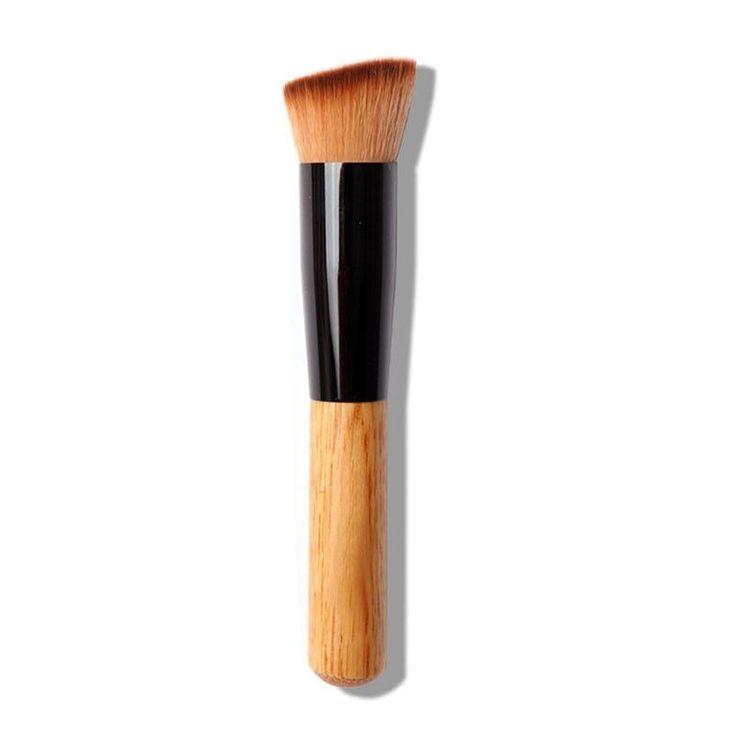 pincel. angled flat top base foundation blush brush cosmetic makeup brushes pincel para