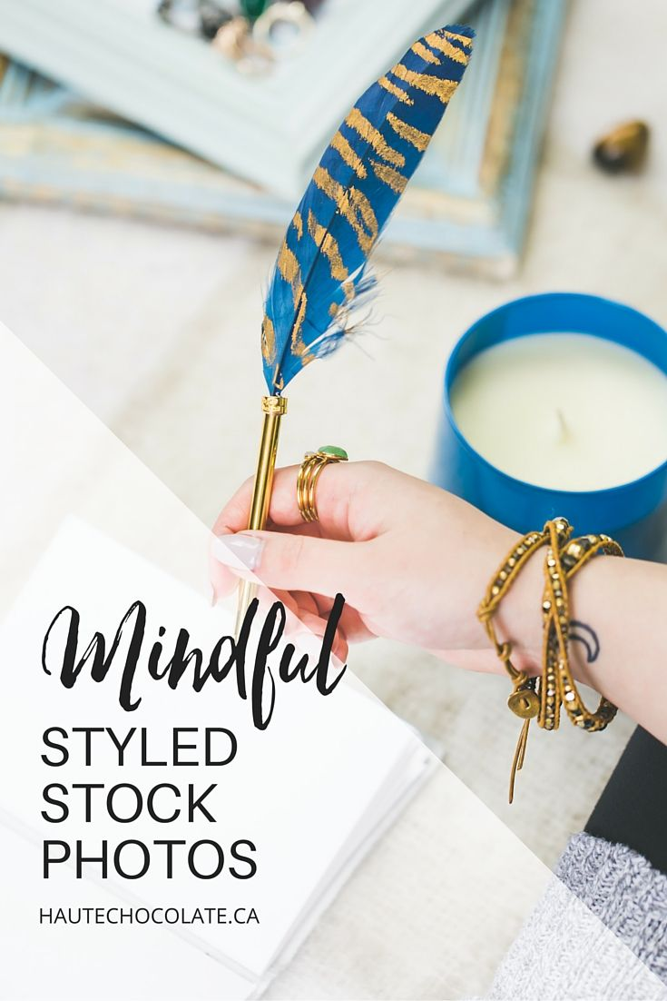 Woman Journaling Styled Stock Photo from Haute Chocolate
