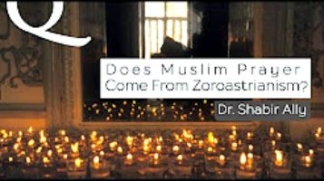 """""""Some Quranists Muslims say that our 5 prayers are borrowed from Zoroastrianism. Is this true?""""  Dr. Shabir Ally has an interesting answer."""