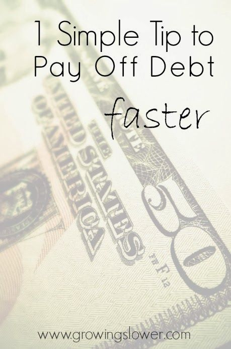 Find out how this one simple tip can help you get out of debt YEARS faster. www.growingslower.com #debtfree #daveramsey