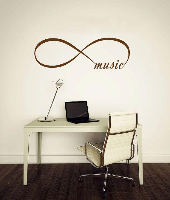 Infinity Symbol Wall Decal Bedroom Vinyl Decals by BestDecals, $14.99