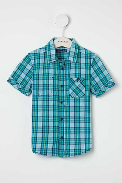 Ekose desenli erkek çocuk gömlek