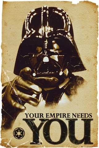Star Wars Propaganda Poster - Empire Needs You