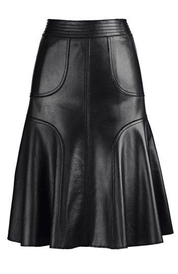 Leather midi skirt! Nordstrom #cybermonday