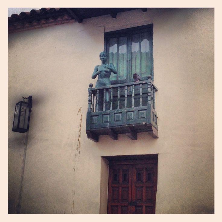 Iron statue # Bogotá