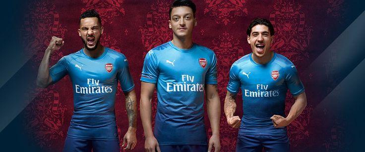 Camisa reserva azul do Arsenal 2017-2018 Puma