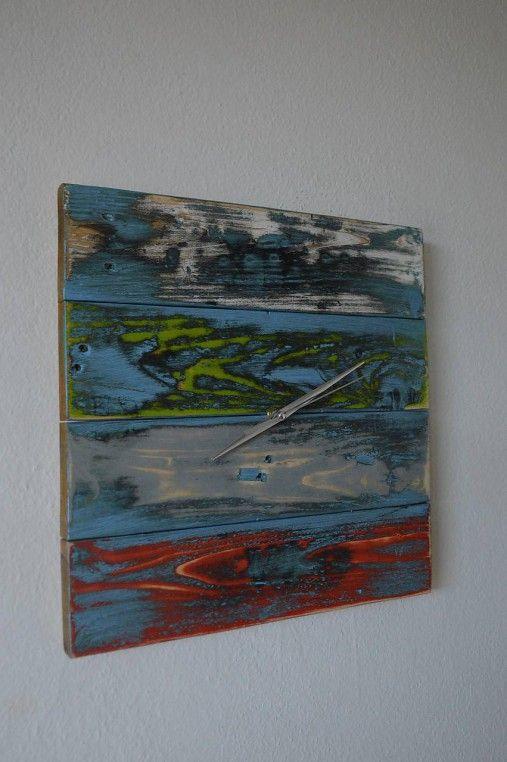 PalletWood / Drevené hodiny ART