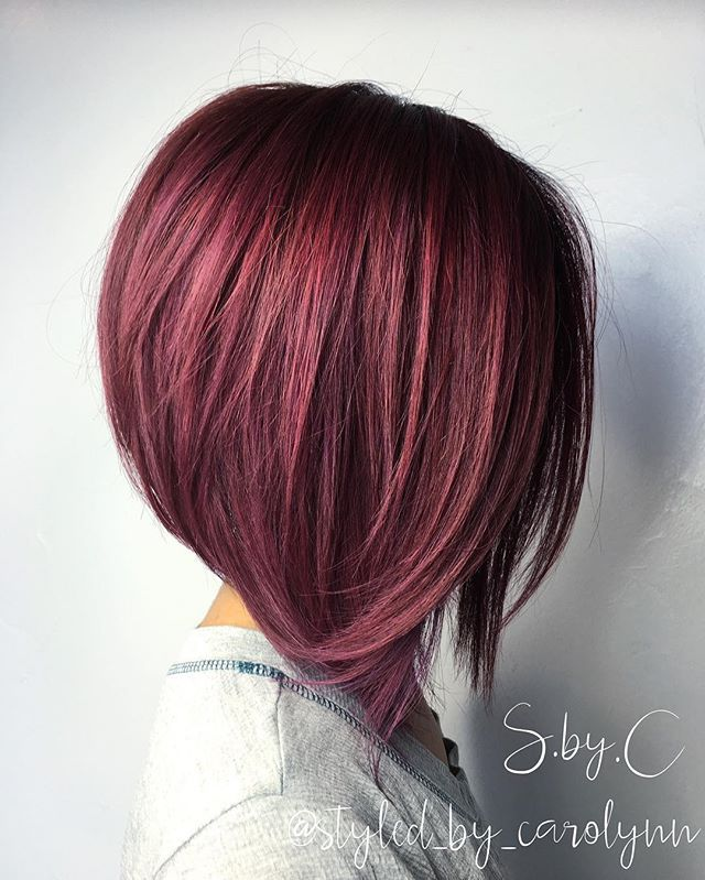 HC @styled_by_carolynn Good morning Happy Monday A-Line textured bob for ya…