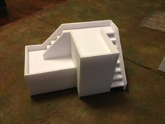 Foamcore building templates for miniatures and role playing for students of the DEAD Academy www.deadacademy.com