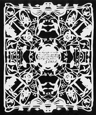 Hans Christian Andersen - papercut