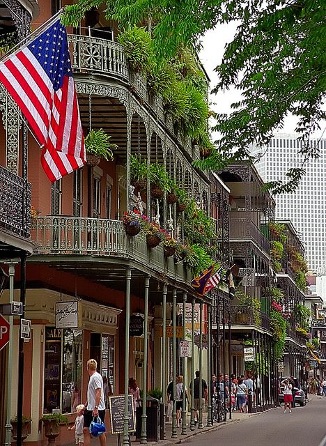French Quarter in New Orleans, Louisiana  Ref:  Dave Robicheaux novels - James Lee Burke