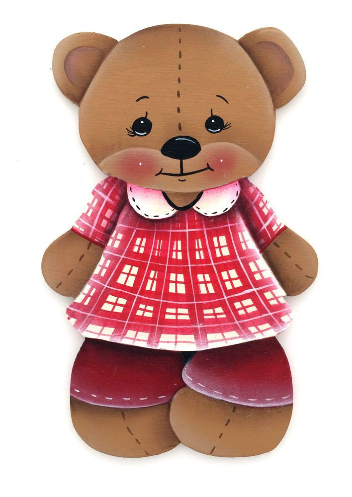 HP FRIDGE MAGNET Teddy Bear red outfit
