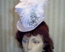 Bruiloft Mini cilinderhoed bruids Mini cilinderhoed Pasen Hat Kentucky Derby Hat Mad Hatter Tea Party Hat Ascot hoed