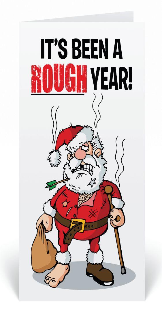20 best Cartoon Humorous Santa Holiday Cards images on Pinterest ...