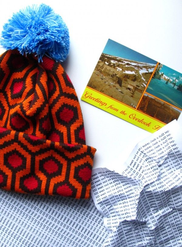 Hat pattern based on the Overlook's carpet pattern in Stanley Kubrick's 'The Shining.'