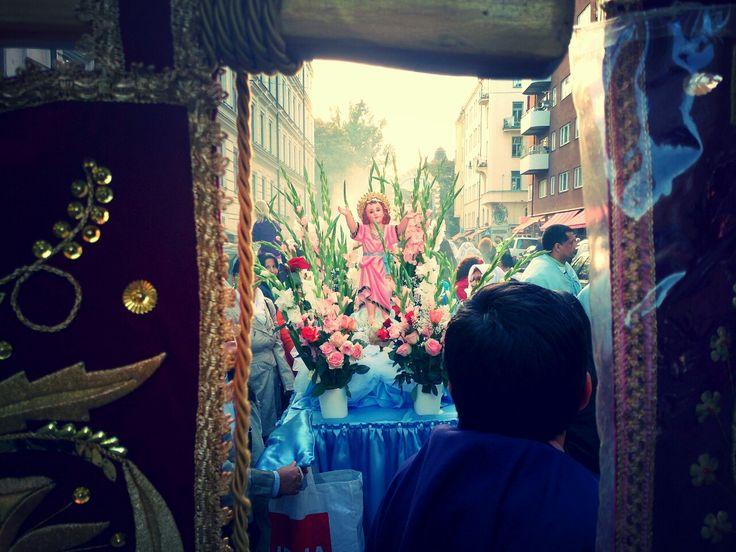 La procesión del Señor de los Milagros.
