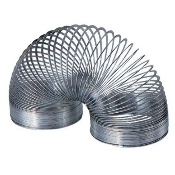 """Metal Slinky.  My daughter would love a slinky for Christmas after seeing her friend's at kindy! She would love to show me how it can """"walk""""! #Entropywishlist #pintowin"""