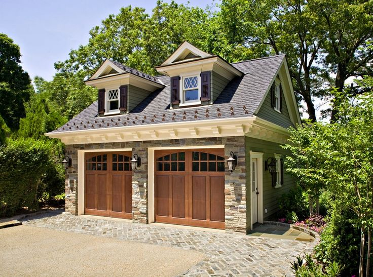 40 best wood garage images on pinterest cabana garages for Detached garage kits