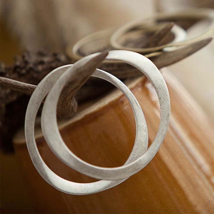 Tutti & Co Jewellery - Tutti & Co Set of Two Disorted Silver Bangles | lizzielane.co.uk £24 http://www.lizzielane.co.uk/shop/tutti-co-jewellery-tutti-co-set-of-two-disorted-silver-bangles