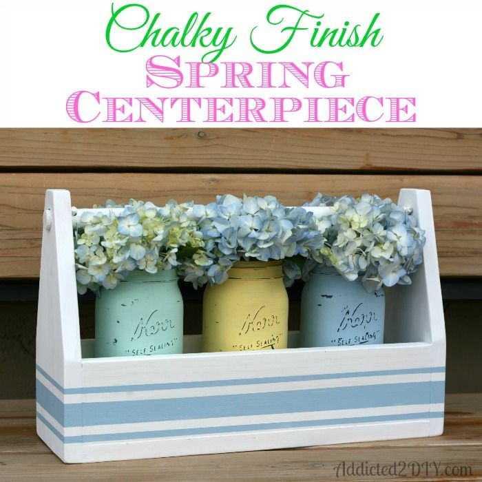 Chalky Finish Spring Centerpiece. #chalkyfinish