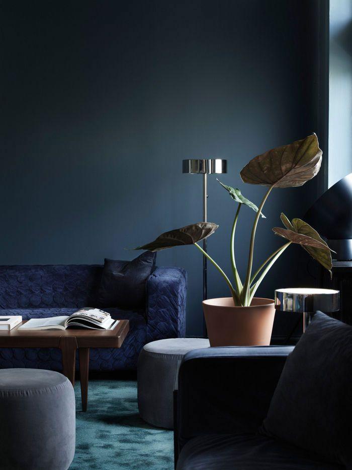 Deep blues at The Creative Hub, IKEA's Inspiring Office Space in Malmö #ikea #officedesign #workspace #sweden #scandinavianinterior #creative #interiordesign #dark #moody #blue