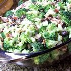 Fresh Broccoli Salad Recipe..I used just a little less sugar and craisins (not rasisins), but this is spectacular!
