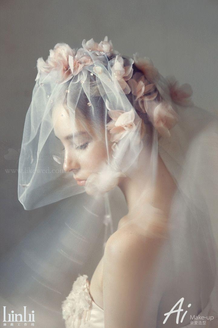 造型师余爱 【静谧 繁花】 纯手工打造的花之精灵新娘造型-新娘配饰案例-造型师余爱作品-喜结网