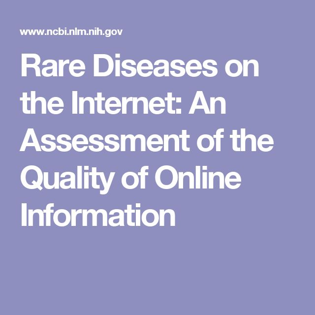 Rare Diseases on the Internet: An Assessment of the Quality of Online Information