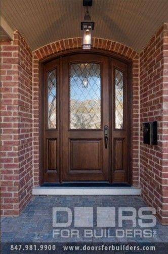 SOLID WOOD ENTRY DOORS-DIAMOND GLASS-DOORS FOR BUILDERS, INC  front doors