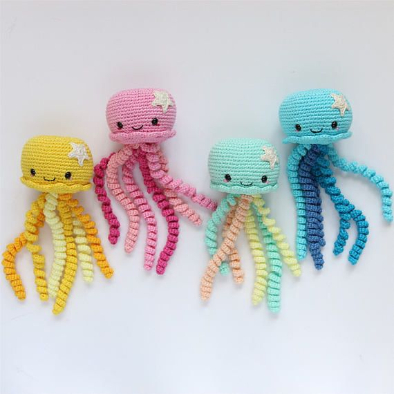 Crochet jellyfish/ Crochet Octopus/ Octopus Toy/ Amigurumi