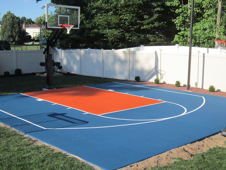 1000 ideas about backyard basketball court on pinterest Indoor half court basketball cost