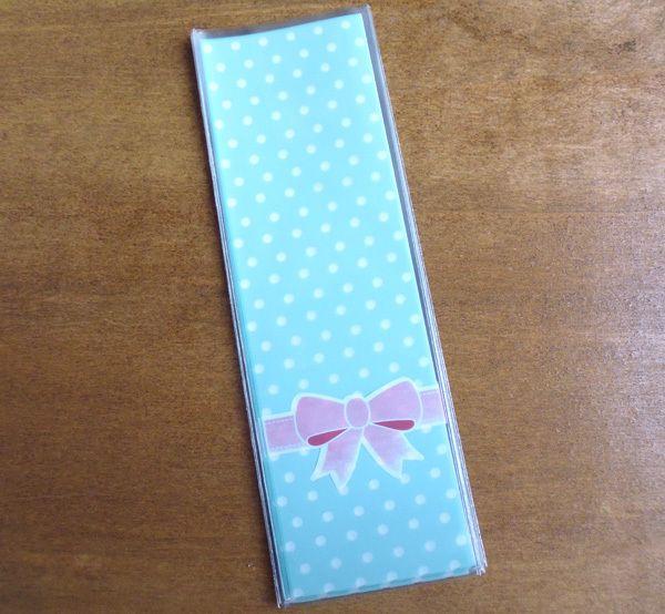 6x18cm Dots and Bowtie Plastic Gift bag Cute Small Pouch Stick Party Biscuit bag, Soap Bag Party Favor Bags 300pcs